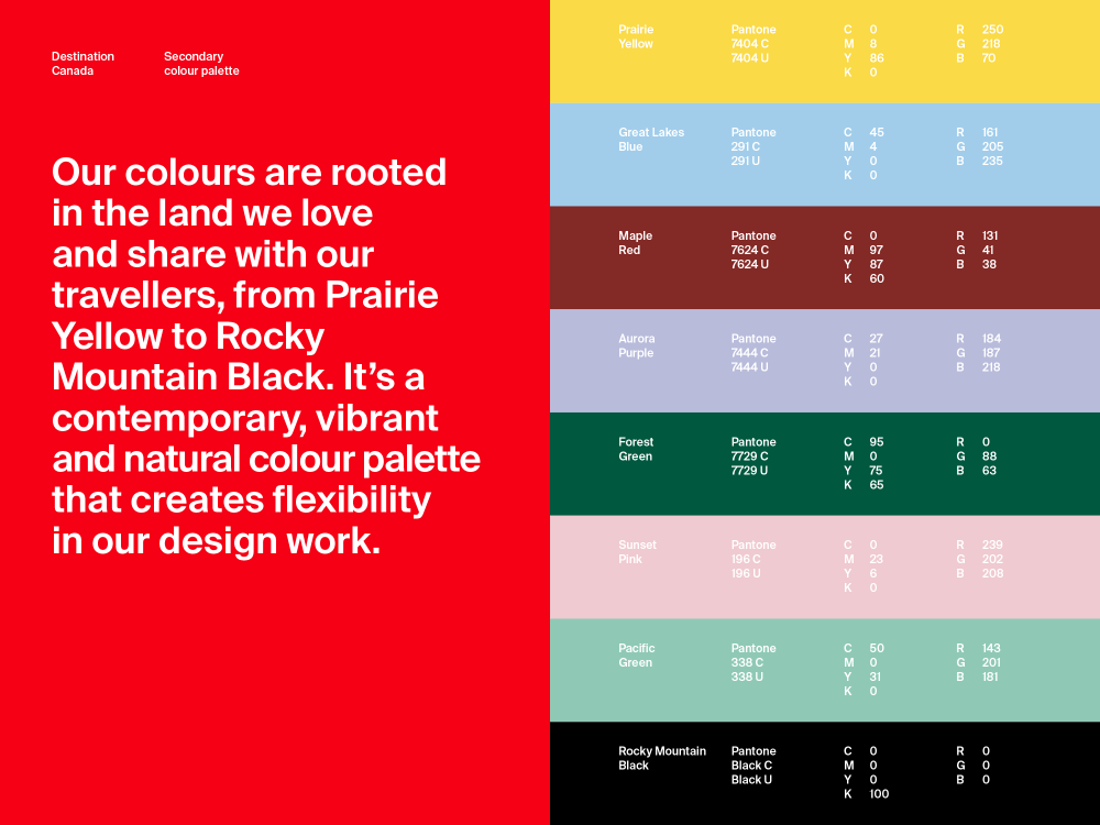 New  logo  and Identity for Destination Canada by Cossette