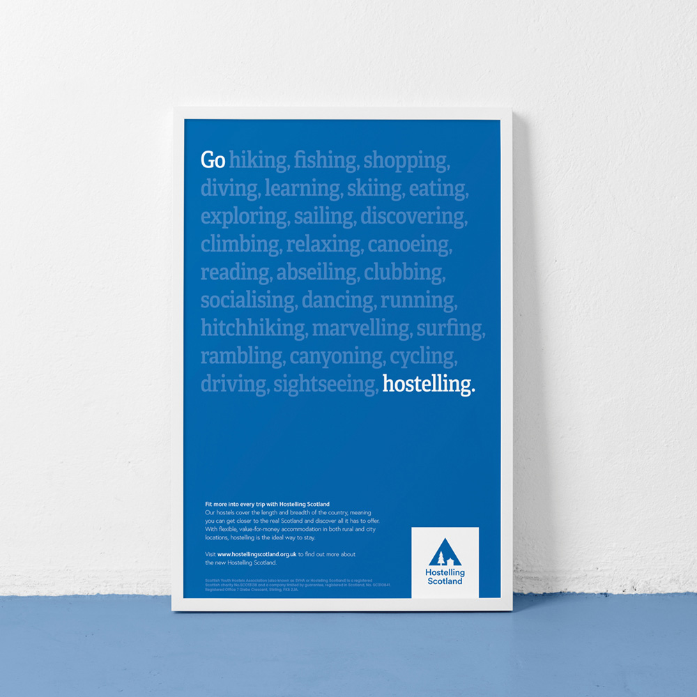 New  logo  and Identity for Hostelling Scotland by Frame