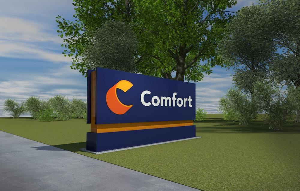 New  logo  for Comfort by Landor