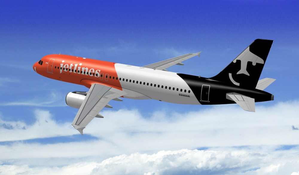 New  logo , Identity, and Livery for Canada Jetlines by Cossette