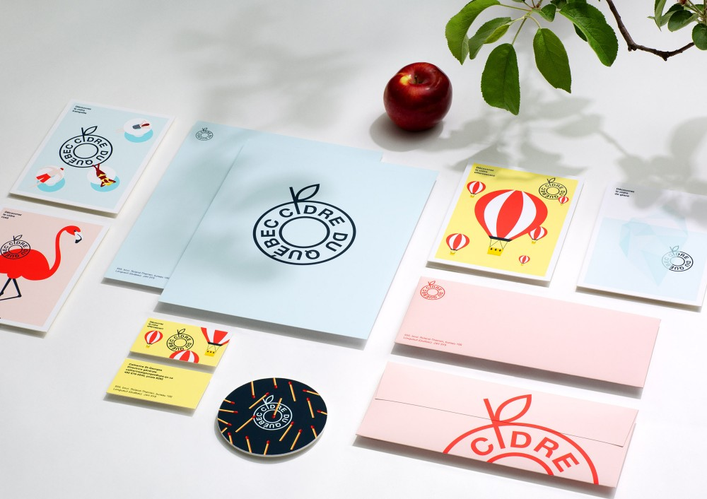 New  logo  and Identity for Producteurs de Cidre du Québec by lg2