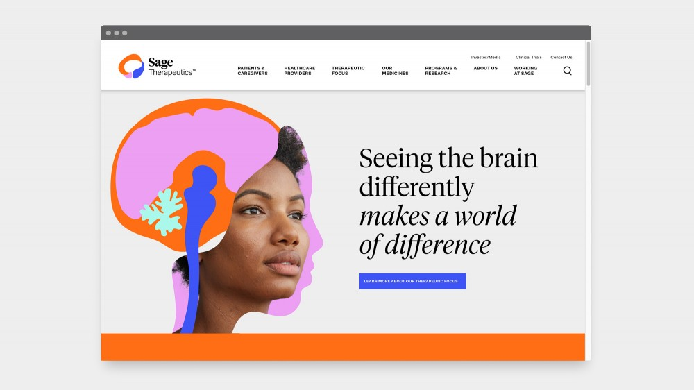 New  logo  and Identity for Sage Therapeutics by Wolff Olins