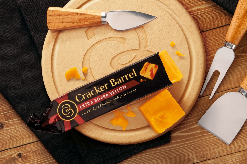 New logo and Packaging for Cracker Barrel Cheese by BrandOpus