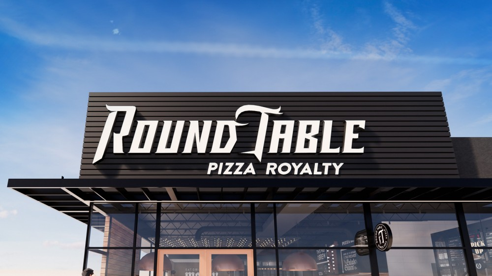 New  logo  and Identity for Round Table Pizza by Sterling-Rice Group