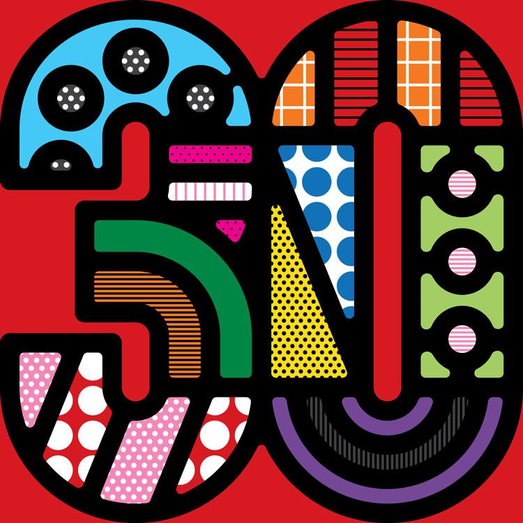 博物馆30周年新标志logo设计,多彩创意时尚