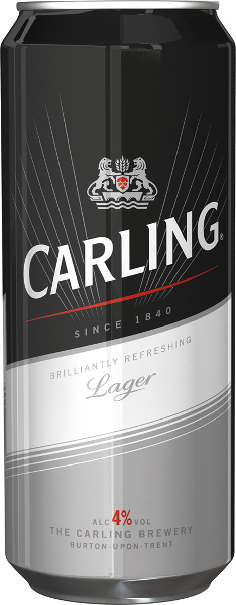 The previous Carling branding, by Echo