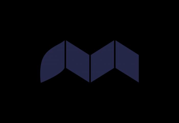 mirvac logo, transparent, blue, symbol