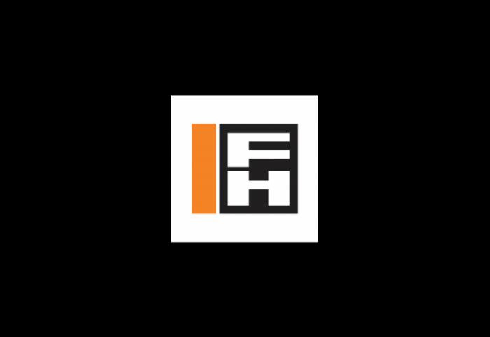 fulton hogan logo, transparent, orange, black, sky blue, symbol