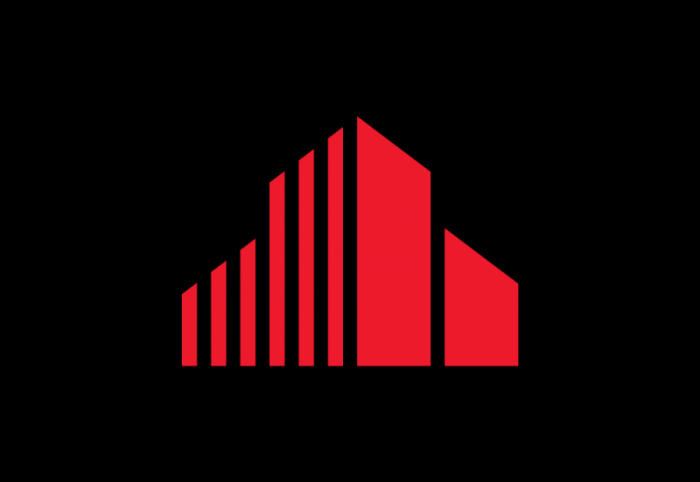 cushman wakefield logo, transparent, red, symbol