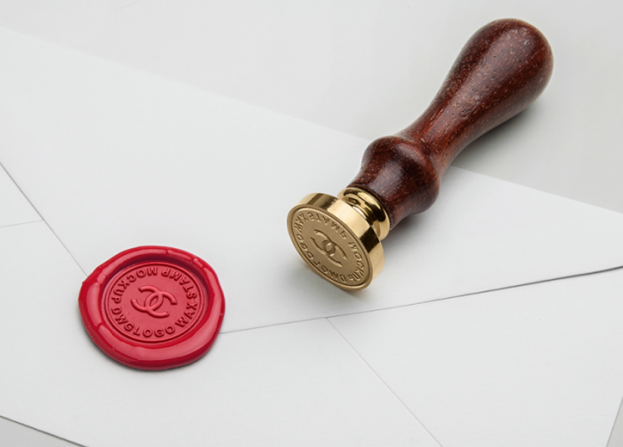 Wax Seal Stamp Free MockUp, chanel logo