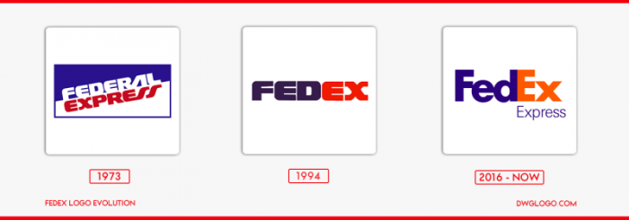 fedex logo evolution