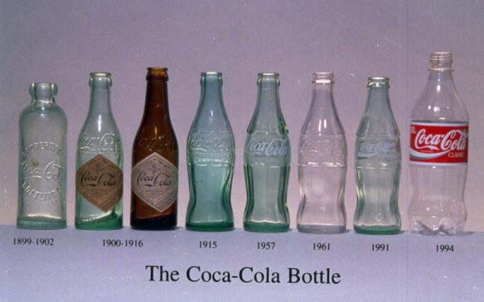 evolution of coca-cola bottle
