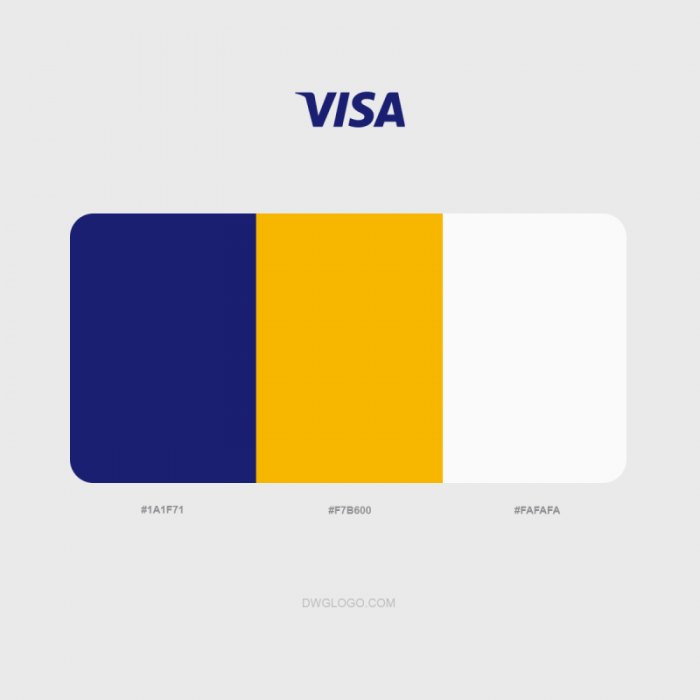 visa logo colors